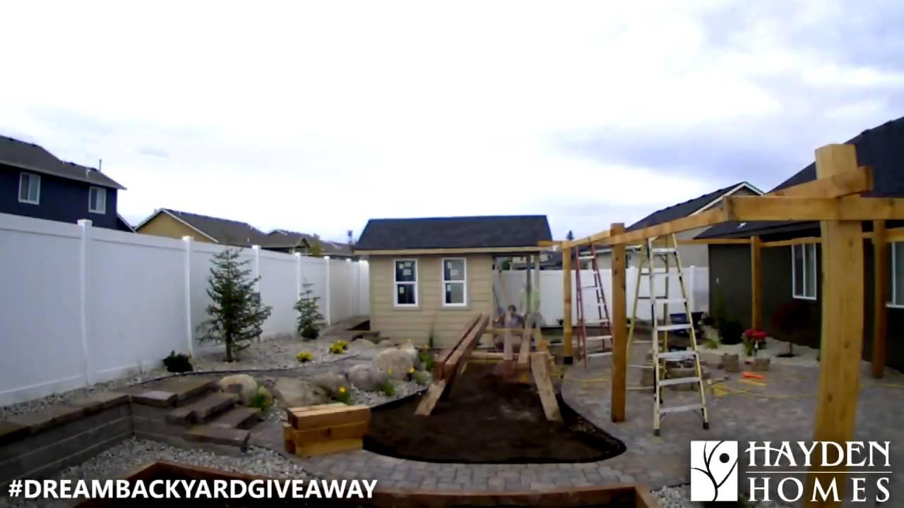 2015 Hayden Homes Backyard Giveaway Timelapse - YouTube