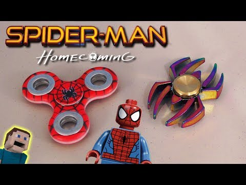 Spiderman Homecoming Fidget Spinners Movie Avengers Amazing Toy Hand Logo Web slinger