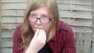 Bepha Stuffing A Hotdog!