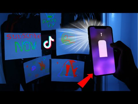HOMEMADE BLACK LIGHT WITH PHONE! TRY THIS EASY COOL TRICK! DOES THE TIK TOK TUTORIAL REALLY WORK?