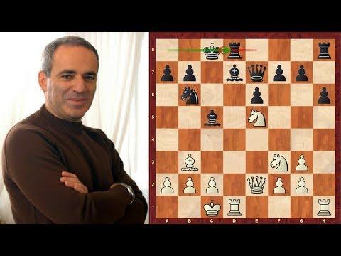 Amazing Game: Garry Kasparov vs Anatoly Karpov - Linares 1992 - Caro-Kann Defense (B17)