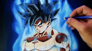 Cómo Dibujar a Goku Migatte no Gokui/Ultra Instinct (Doctrina Egoísta) | Dragon Ball Super