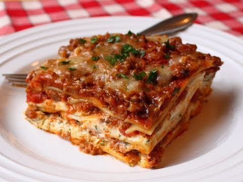 Lasagna Recipe  Beef & Cheese Lasagna  Christmas Lasagna