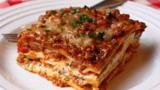 Lasagna Recipe - Beef & Cheese Lasagna - Christmas Lasagna Recipe