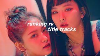 ranking red velvet title tracks