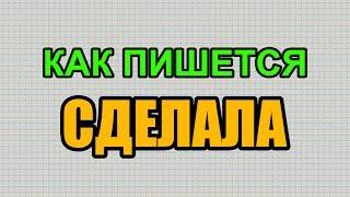 Видео: Как правильно пишется слово СДЕЛАЛА по-русски