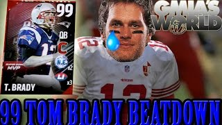 99 Tom Brady RATTLED In BLOWOUT | 50 BURGER! Madden 17 Online Ranked Gameplay