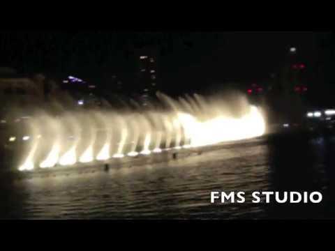 Dubai Water Fountain Dance Show I Filmed Slow Motion Incredible