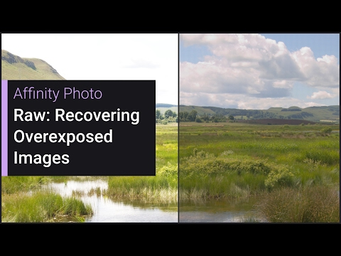 Raw: Recovering Overexposed Images (Affinity Photo)