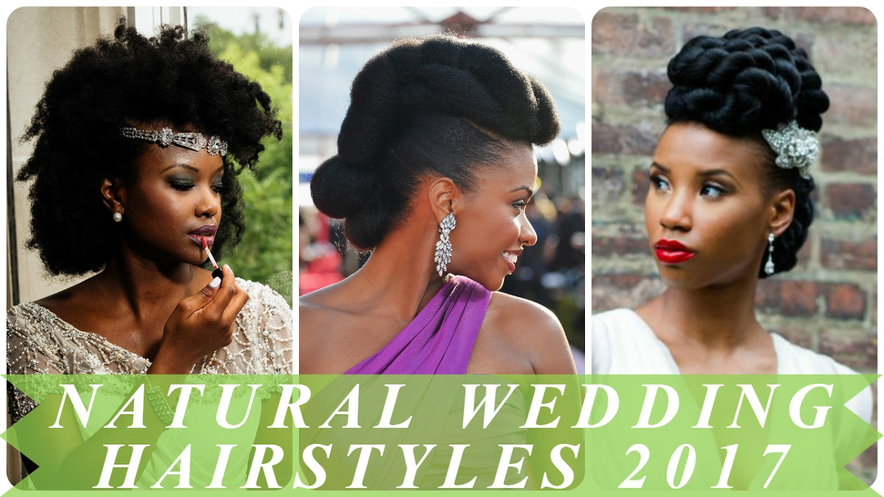 Natural black hair wedding hairstyles 2017 - YouTube