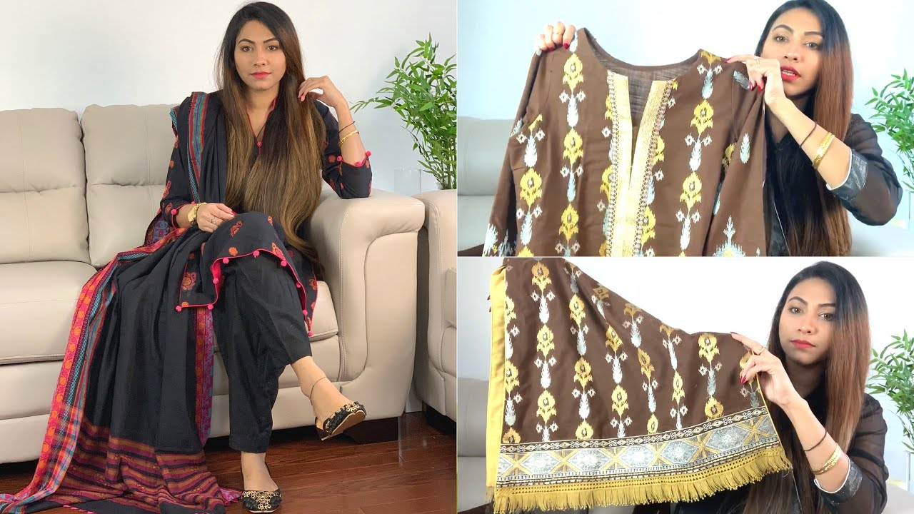 Simple Dresses I Bought From Pakistan Dress Designing Winter Suit Collection Vlog Youtube