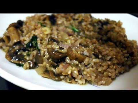 Healthy Brown Rice Mushroom Risotto