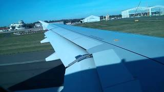 Take off from Birmingham Airport