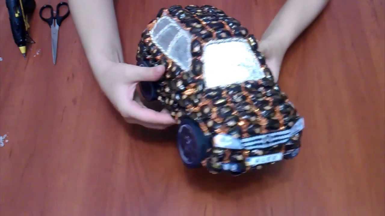 Машинка из конфет своими руками мастер класс фото