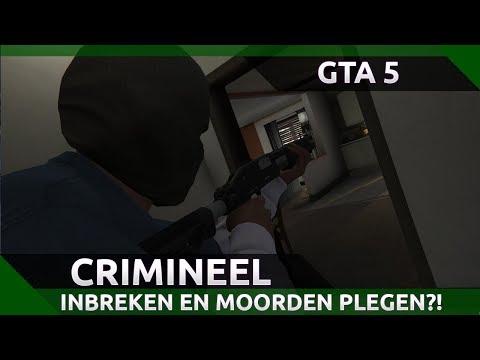 GTA 5 ALS BOEF SPELEN?! INBREKEN EN MOORDEN PLEGEN!