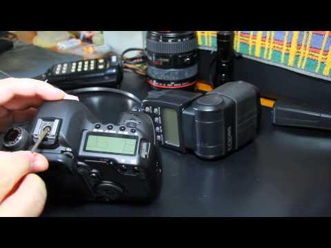 Canon 5D Mark II - Reapertando a Sapata de Flash (Flash Hotshoe Repair)