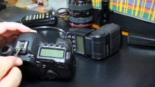 Canon 5D Mark II - Reapertando a Sapata de Flash (Hotshoe Repair)