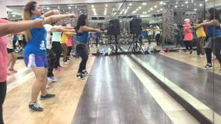 Follow The Leader - Jennifer Lopez ( JLo ft Wisin & Yandel ) Zumba at Awesome Gym Kalimalang Jakarta