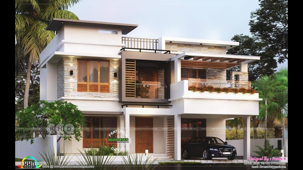 45 Amazingly Beautiful Two Storey Flat Roof Home Designs Youtube