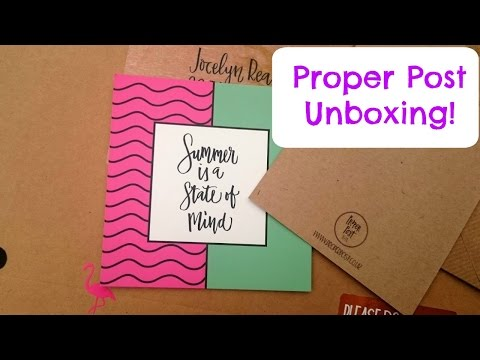 Unboxing Proper Post Stationery Subscription Pack