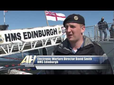Royal Navy Destroyer HMS Edinburgh Visits Naval Station Mayport