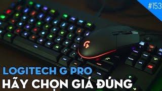 Chuột & Bàn phím Logitech G Pro: Bàn phím cơ Logitech TKL RGB rẻ nhất! (4K)