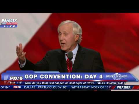 FULL SPEECH: Former NFL Player Fran Tarkenton Speaks at 2016 GOP Convention - FNN