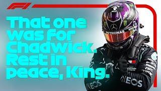 Lewis Hamilton Dedicates Pole To 'Superhero' Chadwick Boseman | 2020 Belgian Grand Prix