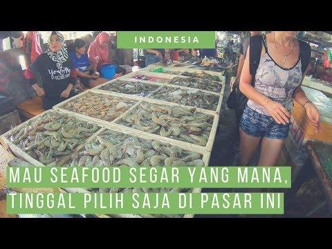 Pasar Ikan Kedonganan, Tempat Beli Seafood Di Bali Selatan [ Jimbaran Fish Market ] [ Wisata Bali ]