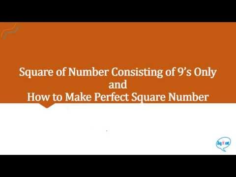 Square of number consisting of 9's only
