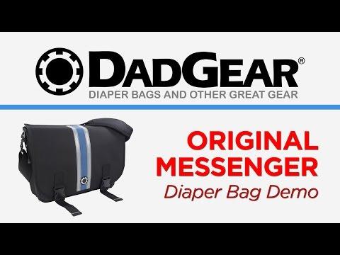 DadGear Messenger Diaper Bag Demo