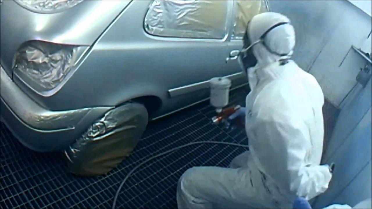 Proceso de pintado de un coche en cabina de pintura youtube - Cabina de pintura coches ...
