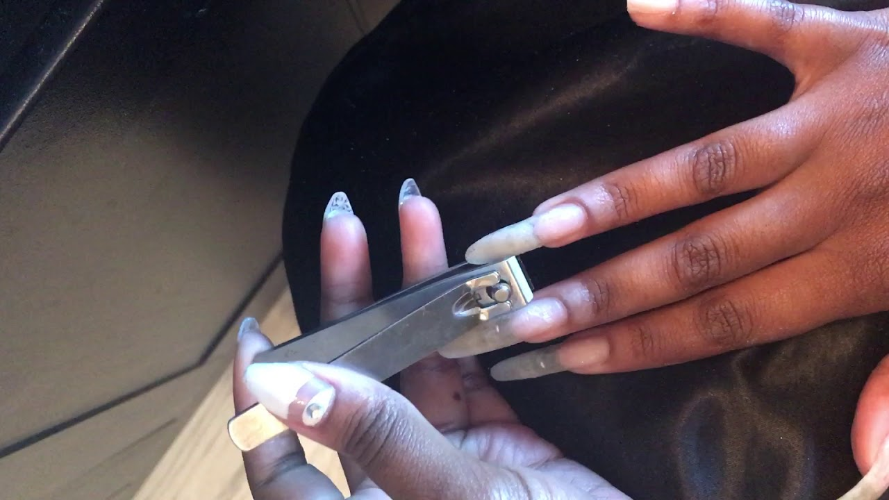 CUTTING MY EXTREMELY LONG NAILS! - YouTube