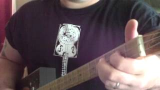 How to Play Cigar Box Guitar  3 String Blues licks by Shane Speal