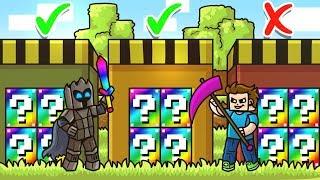 CHOOSE The RAINBOW SECRET LUCKY BLOCK DOOR In Minecraft! - Lucky Block Doors Mini-Game