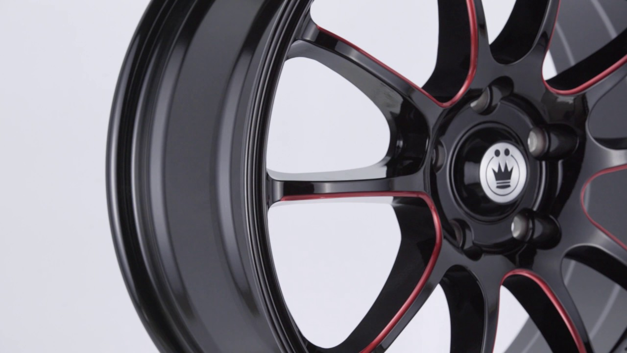Konig Illusion Black Ball Cut Red Wheel 17x7//5x114.3mm