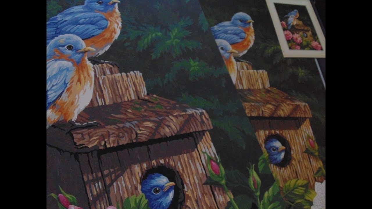"Раскраска по номерам Dimensions ""Синешейки в саду ..."