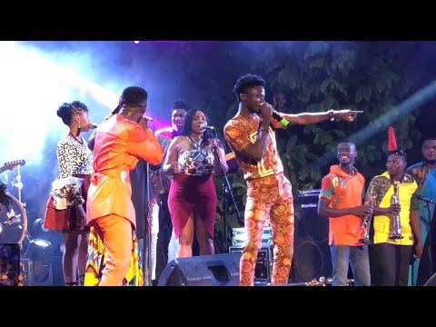 "Kuami Eugene & Okyeame Kwame Perform Together at ""MADE IN GHANA"" Album Launch"