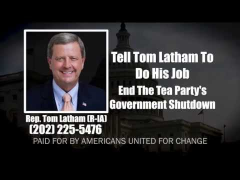 "AUFC Ad: ""Tea Party Shutdown - Tom Latham (R-IA)"""