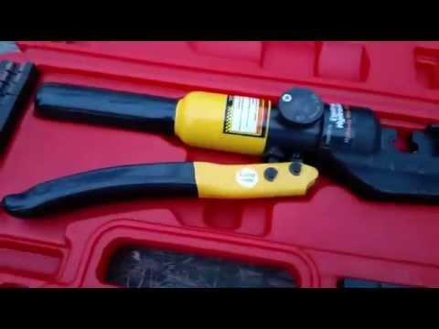How To Crimp Using A 10 Ton Hydraulic Crimping Too Doovi