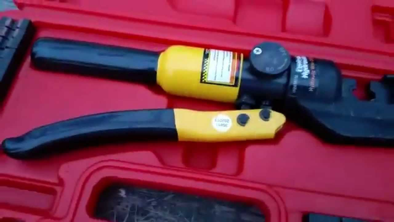 Review harbor freight hydraulic crimper youtube review harbor freight hydraulic crimper greentooth Images
