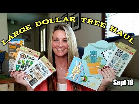 Large Dollar Tree Haul 💕 Sept 18 😄🤪