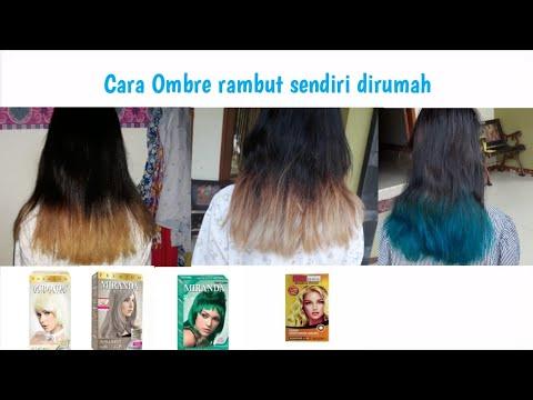 Cara Ombre Bleaching Rambut Sendiri Dirumah Miranda How To Ombre At Home Youtube