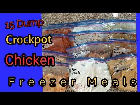 15 Dump Crockpot Chicken Freezer Meals!