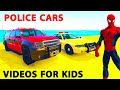 Police Car And Spiderman Cartoon For Kids Motorbike With Nursery Rhymes Songs For Children video