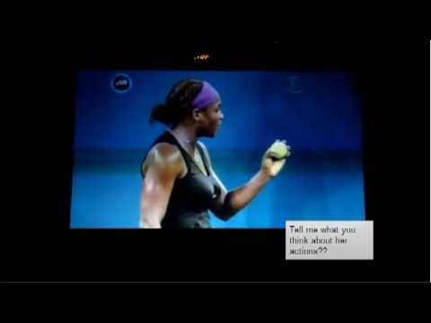 Serena's publicity department (or not) provides an explanation