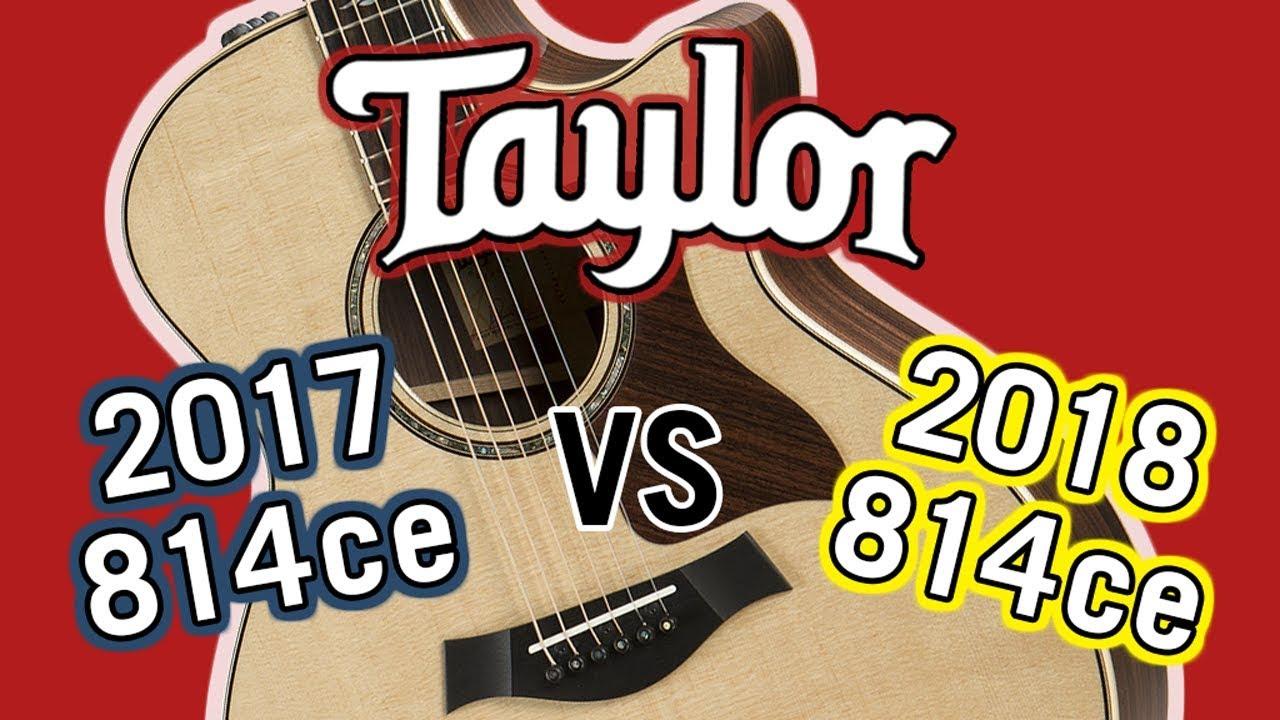 Taylor 2017 814ce vs 2018 814ce V-Class Comparison