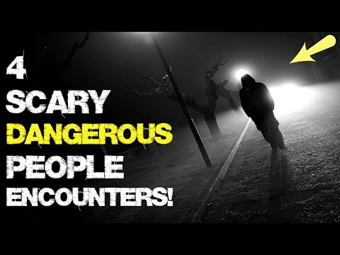 "4 SCARY Dangerous people stories! | ""Midnight chase!"""