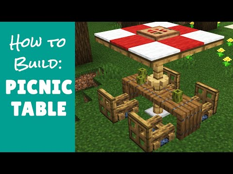 Picnic Table - Minecraft Furniture