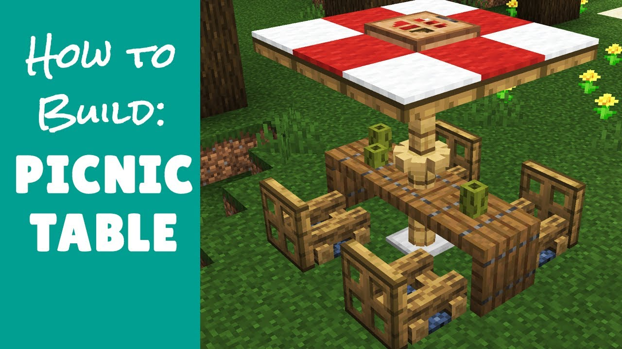 Picnic Table - Minecraft Furniture - YouTube
